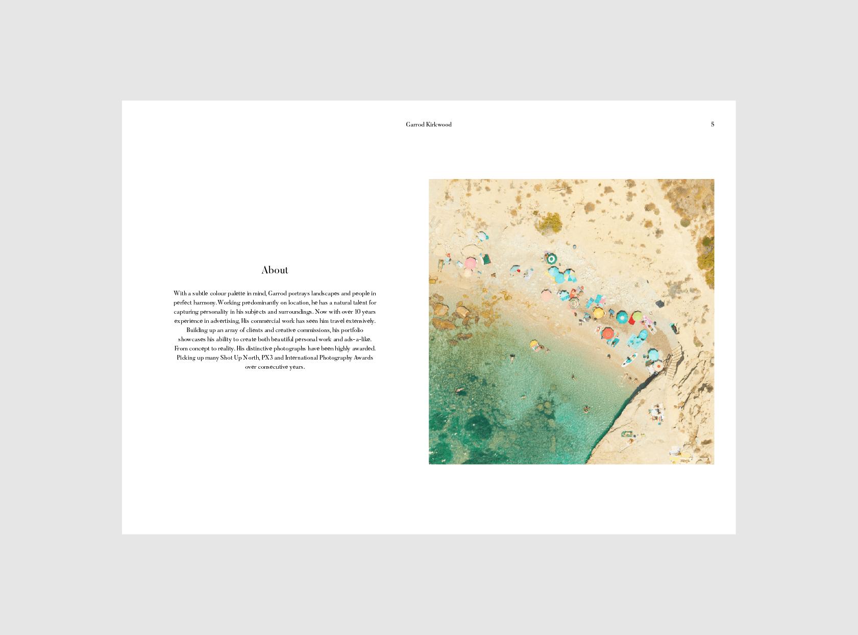 Website design for Garrod Kirkwood