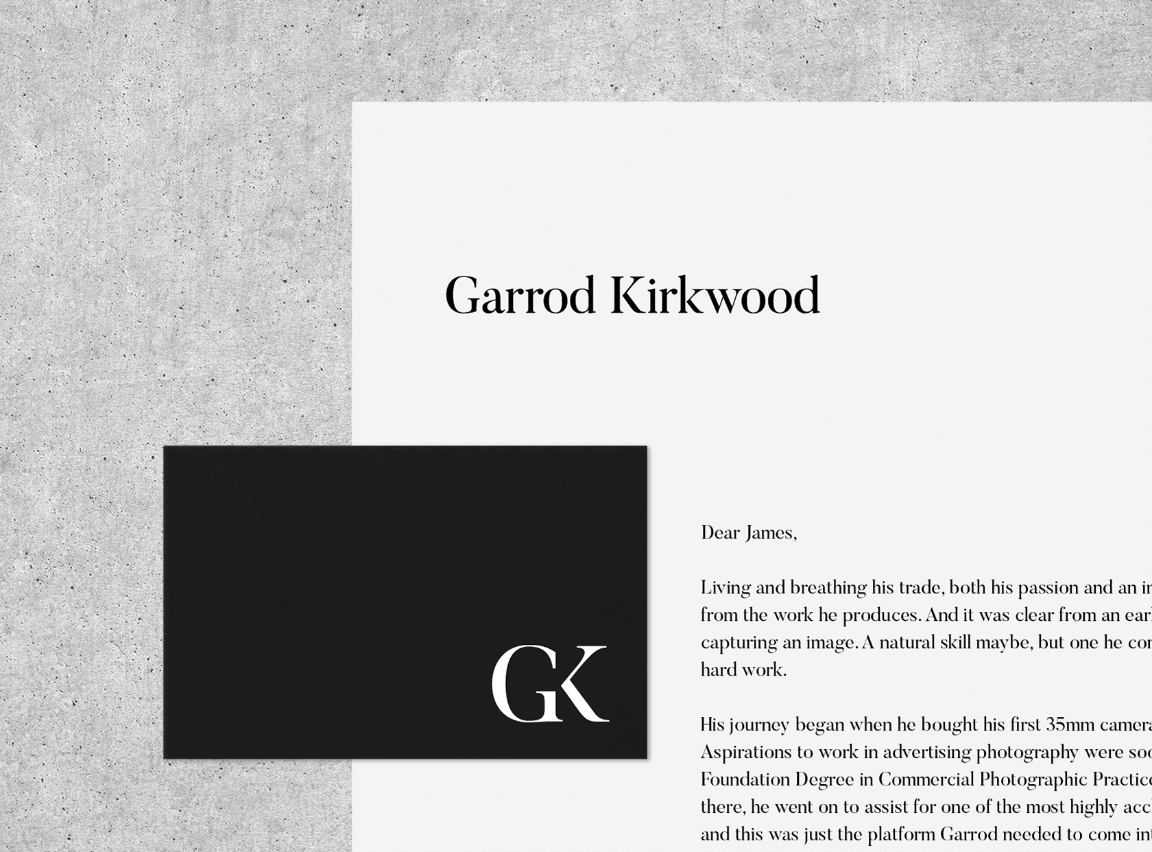 Stationary design for Garrod Kirkwood