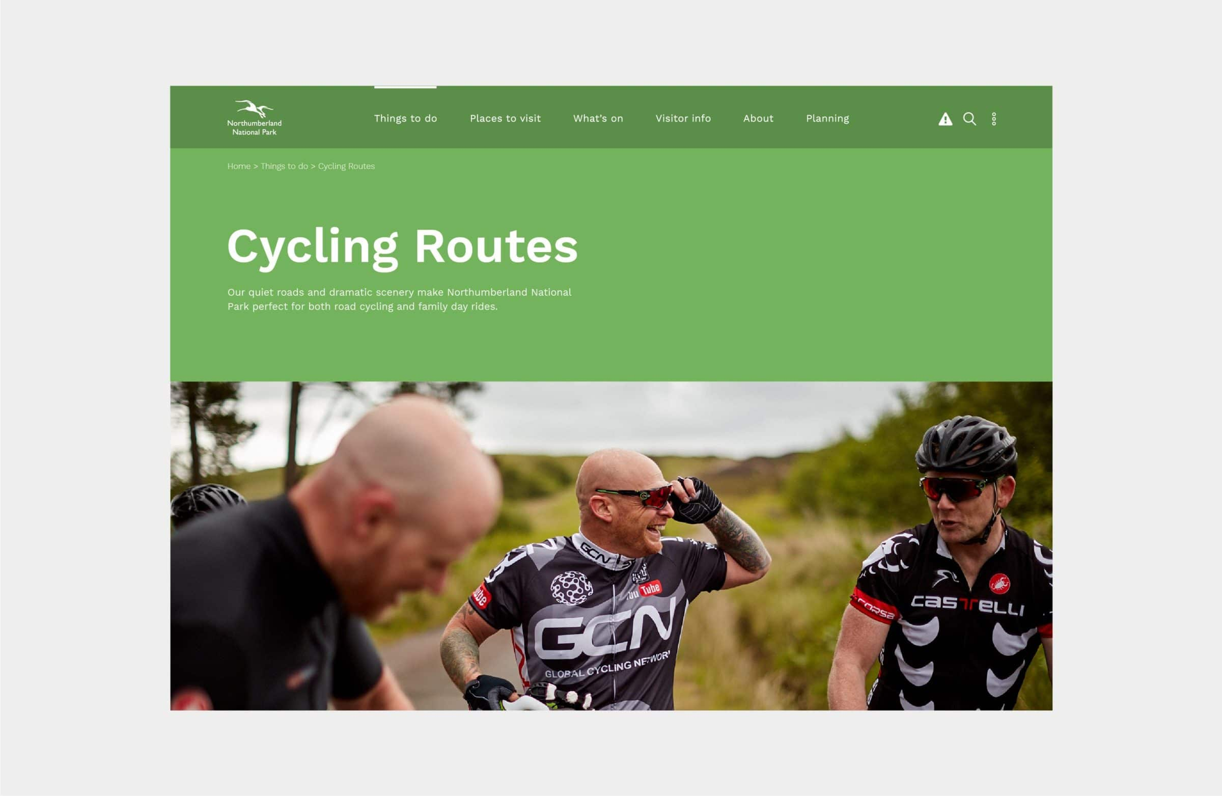 Website development for Northumberland National Park
