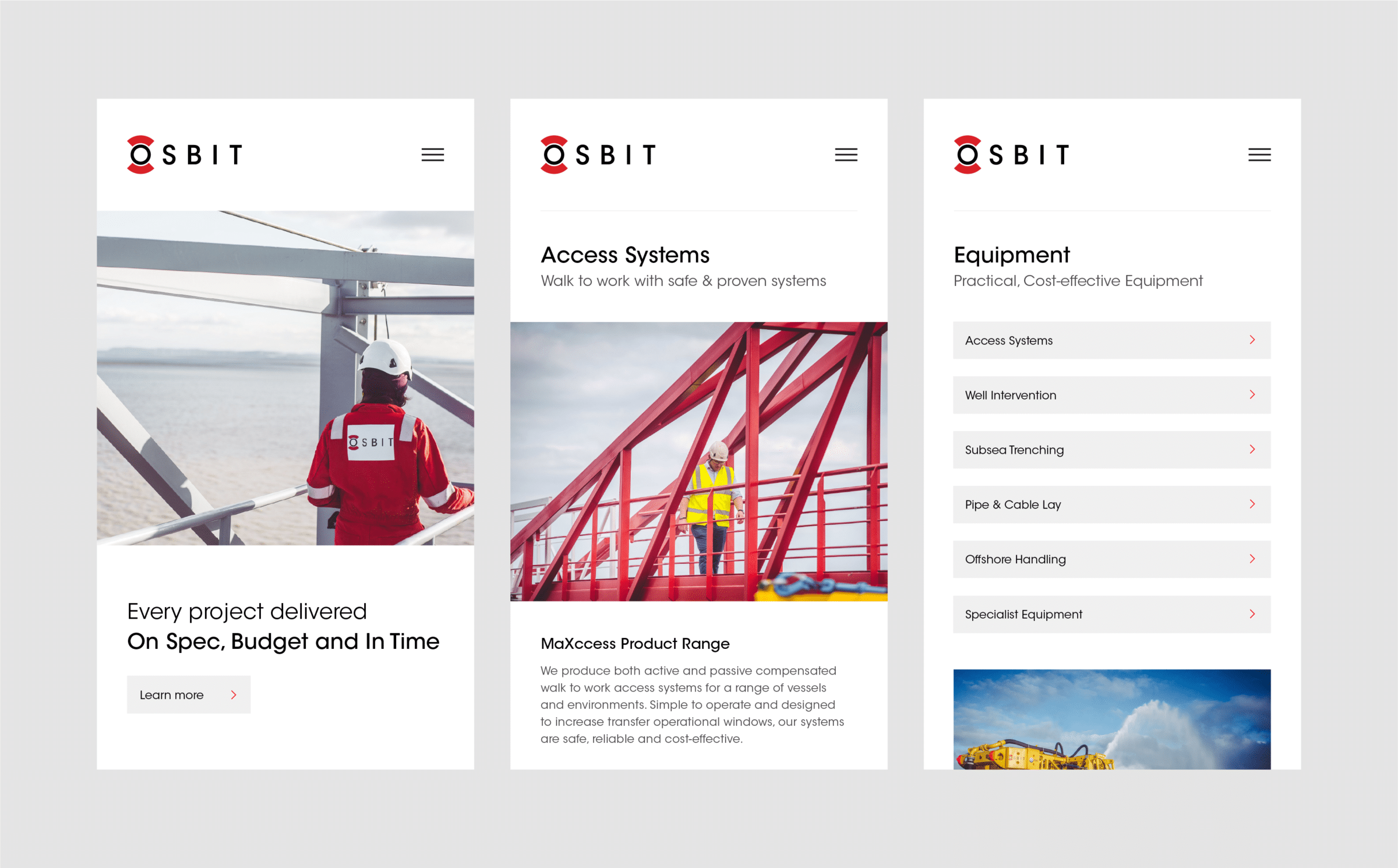 Responsive web development for Osbit