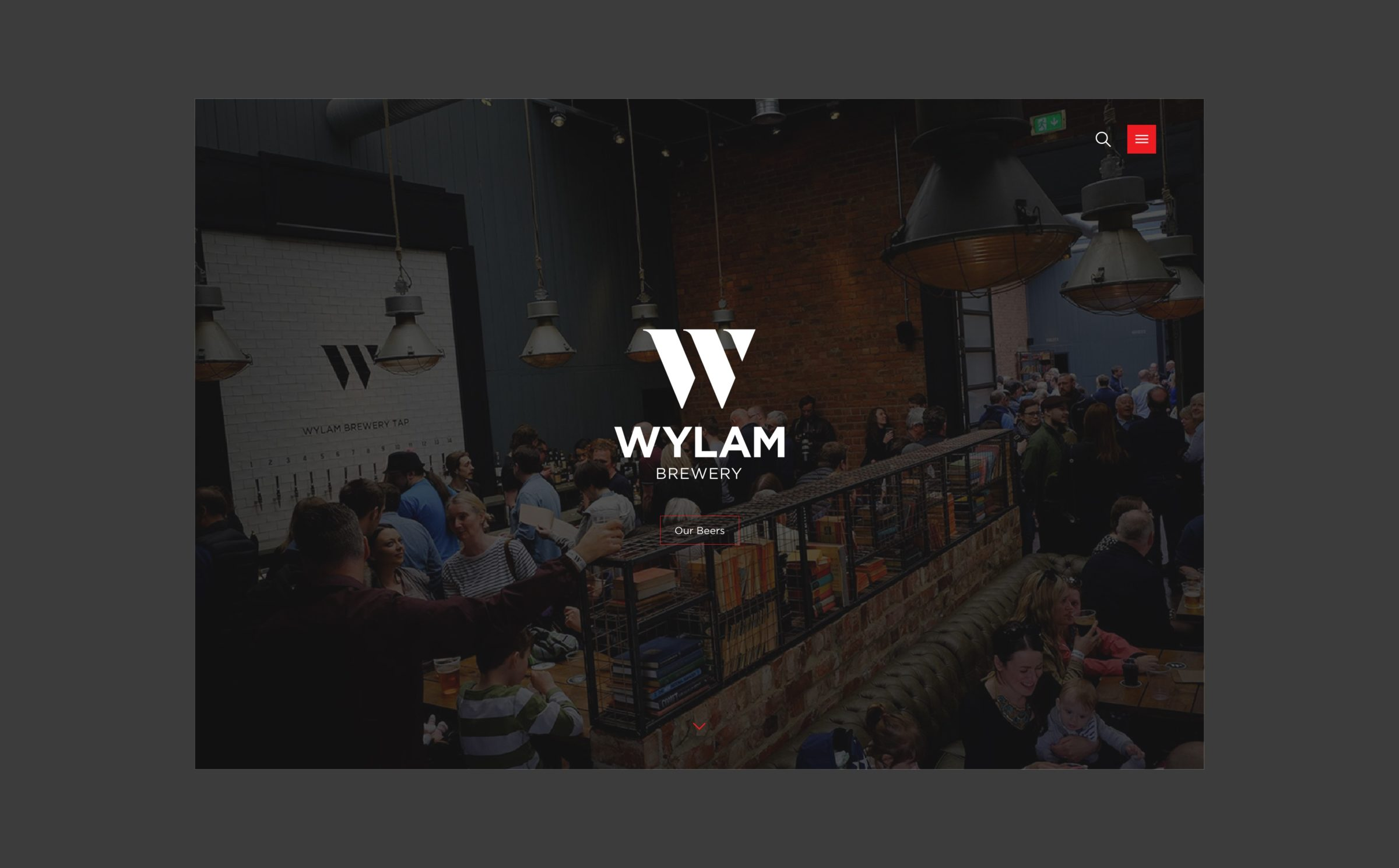 Responsive web design for Wylam Brewery