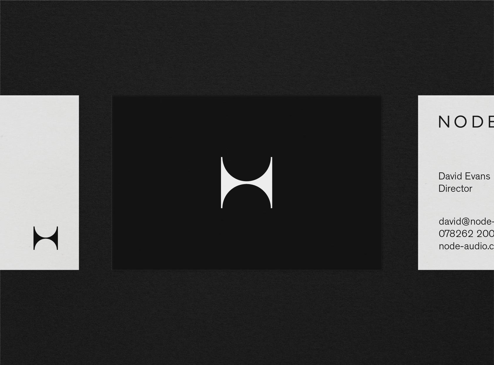 Business card design for Node