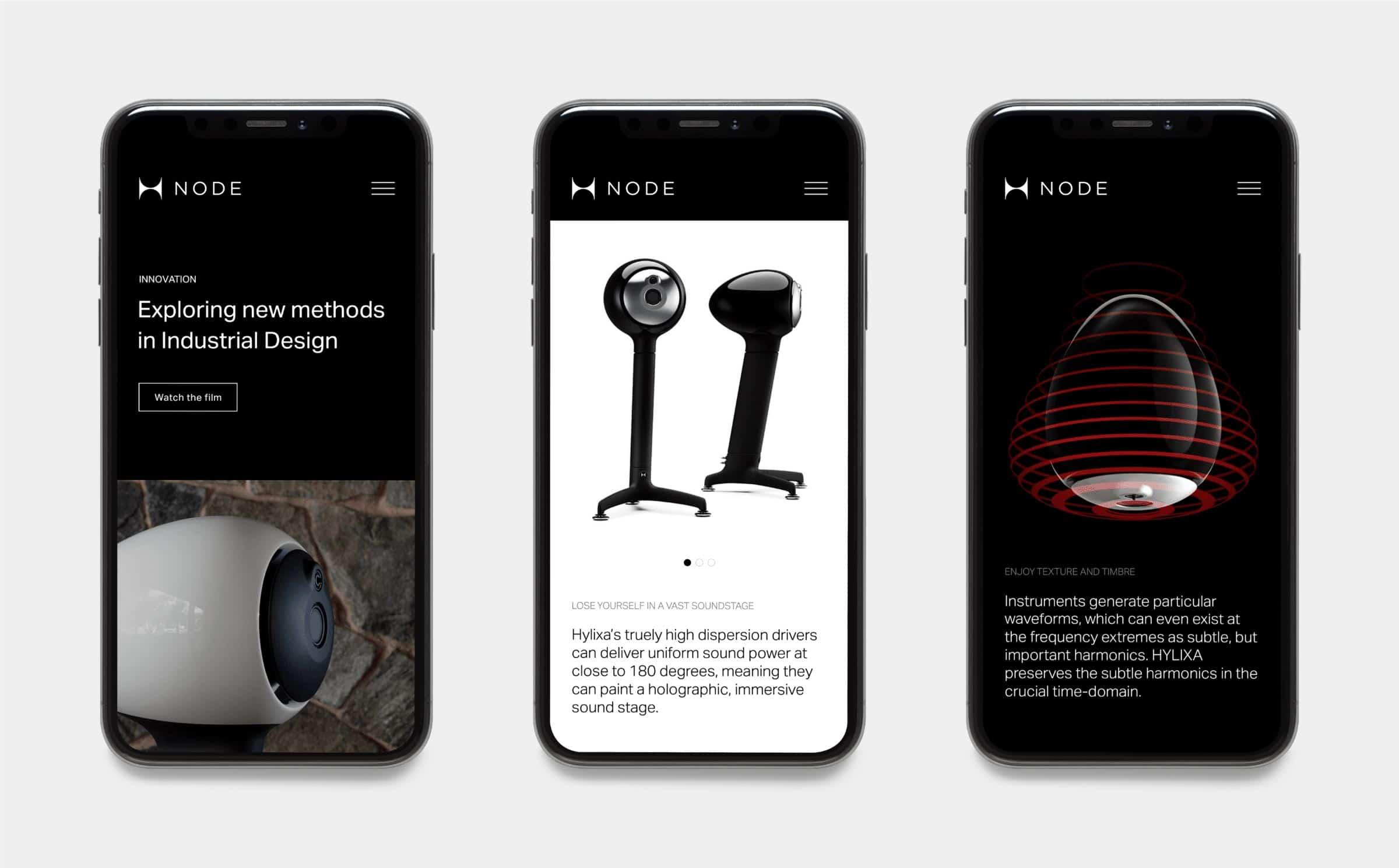 Mobile website for Node Audio