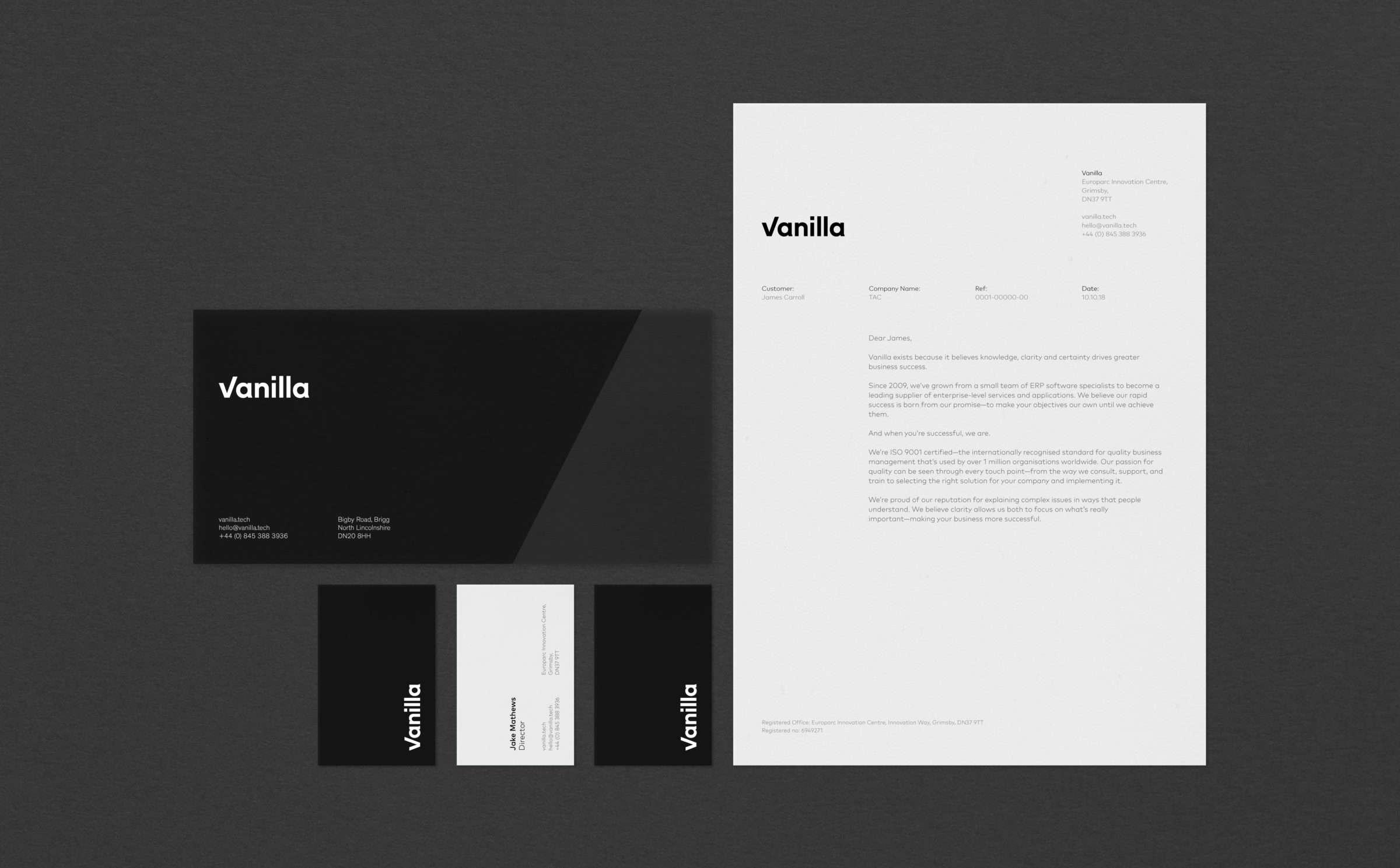 Business stationary design for Vanilla