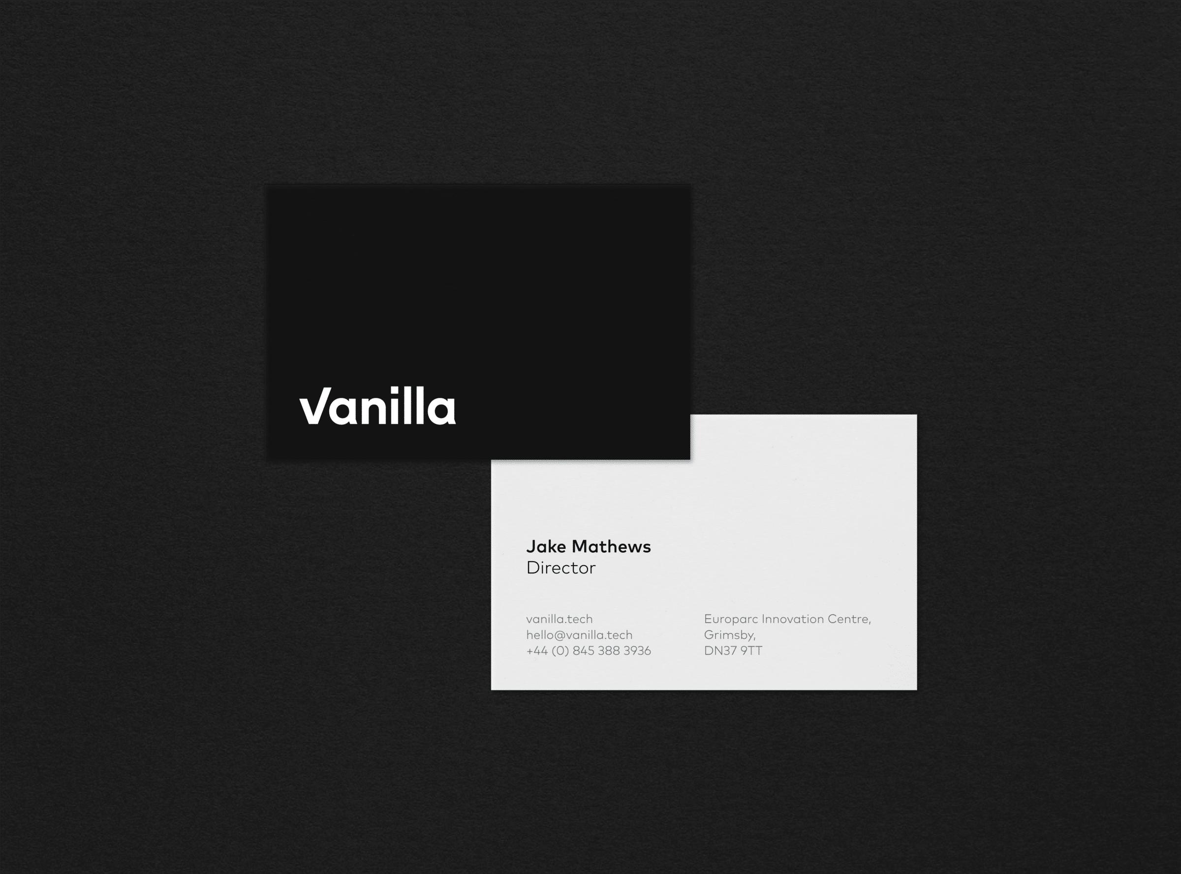 Business card design for Vanilla