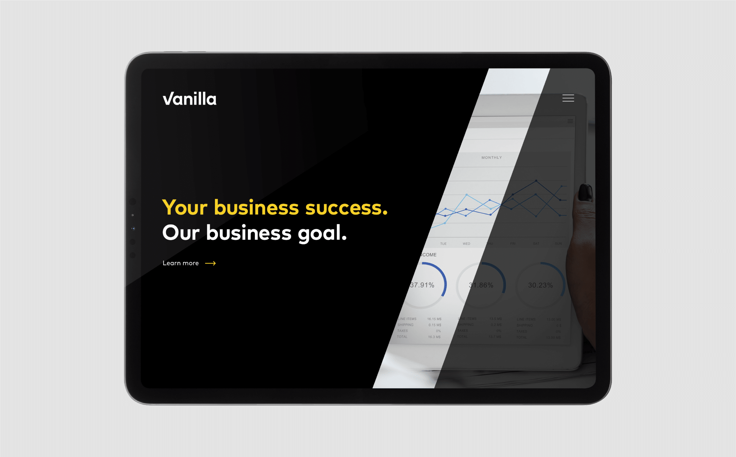 Website design for Vanilla