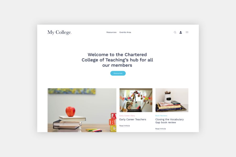 Website development for Chartered College