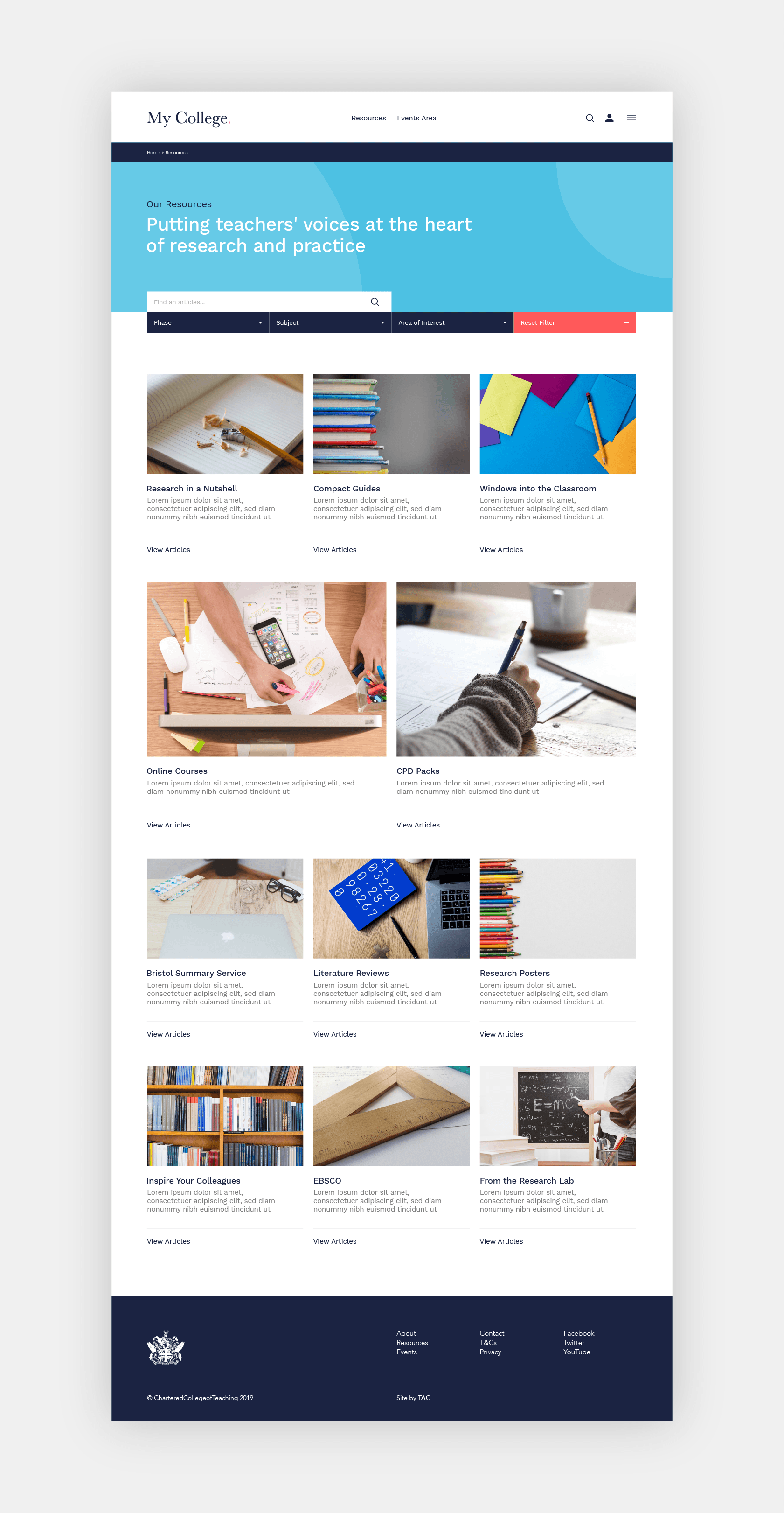 Responsive web design for CCoT