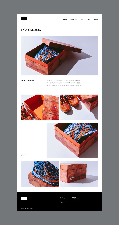 Website design for EJ Melling