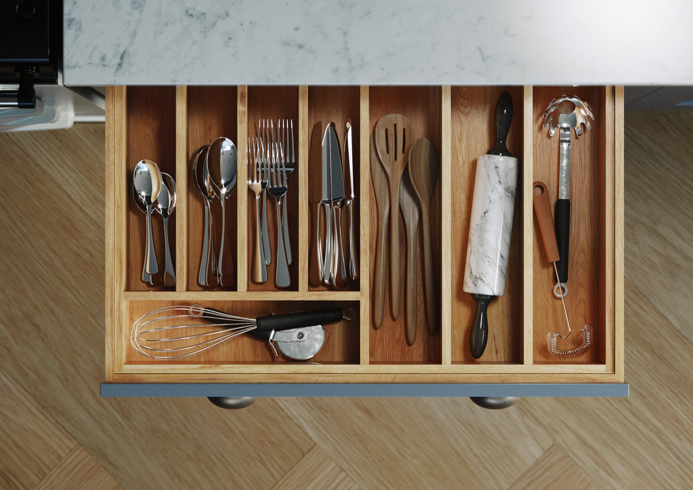 Photo of a kitchen drawer by Kin
