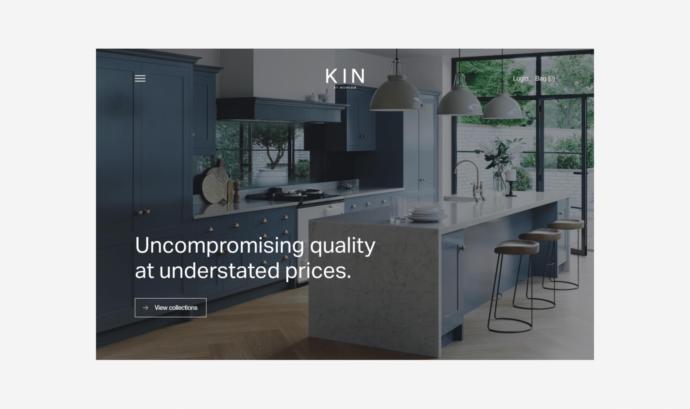 Kin by Mowlem website by TAC