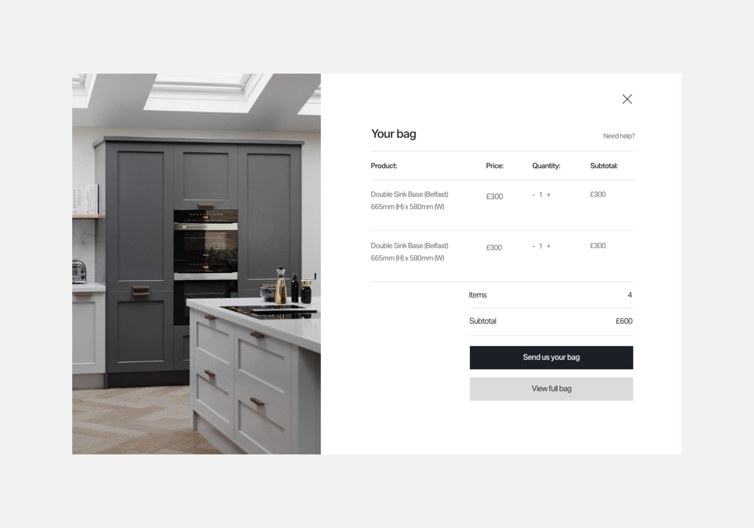 Website design for Kin by Mowlem