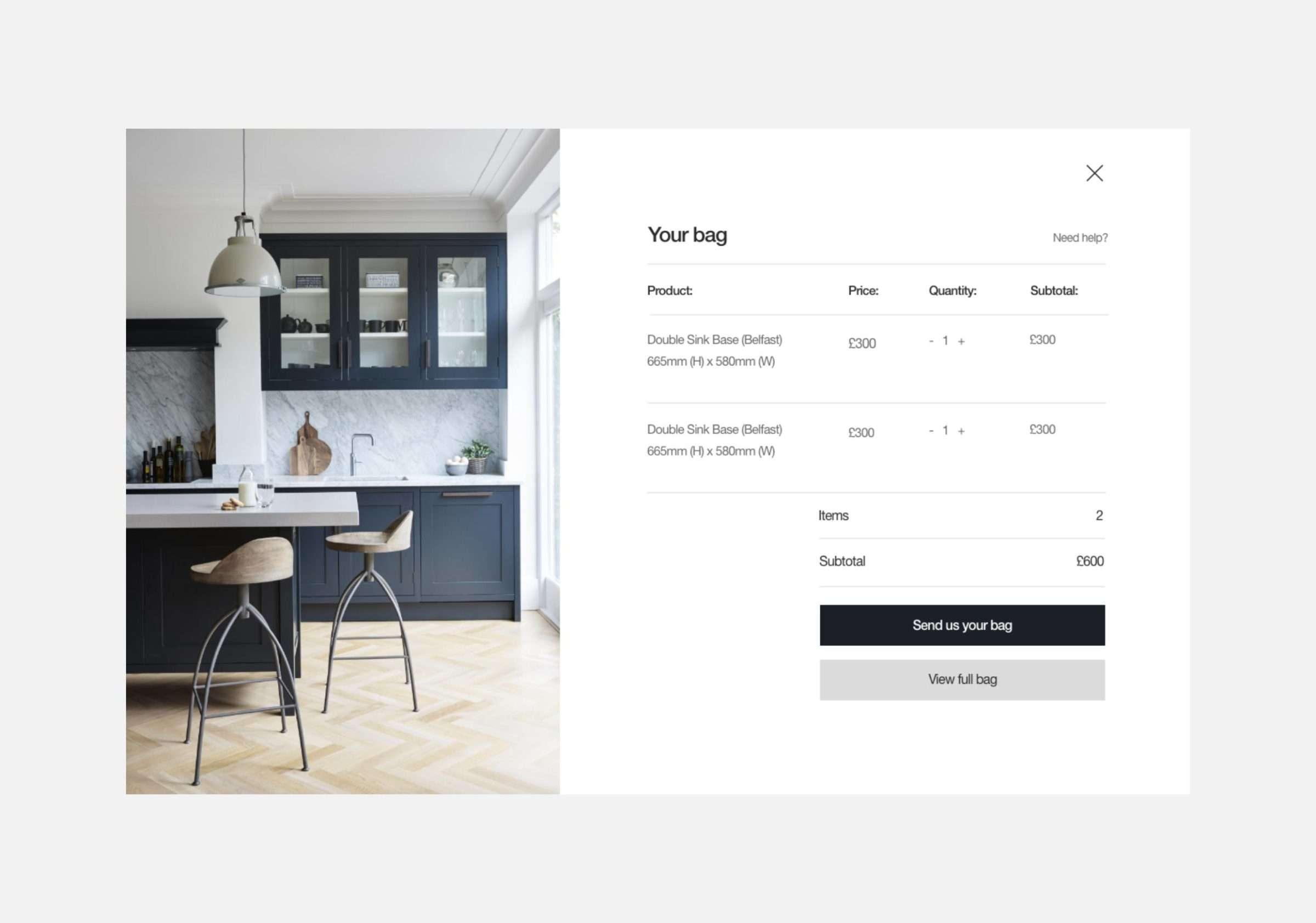 E-commerce development for Kin