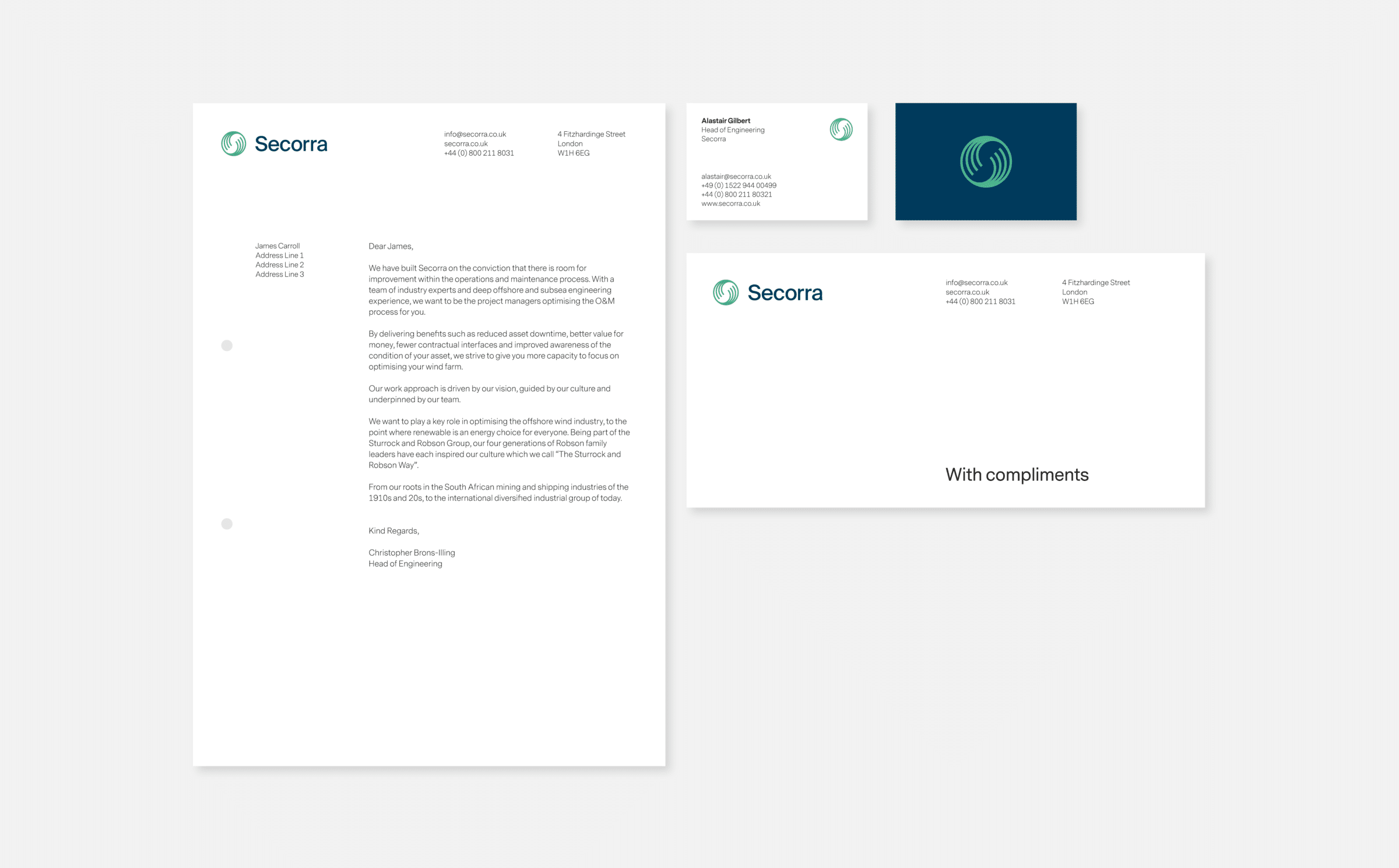 Business stationary design for Secorra