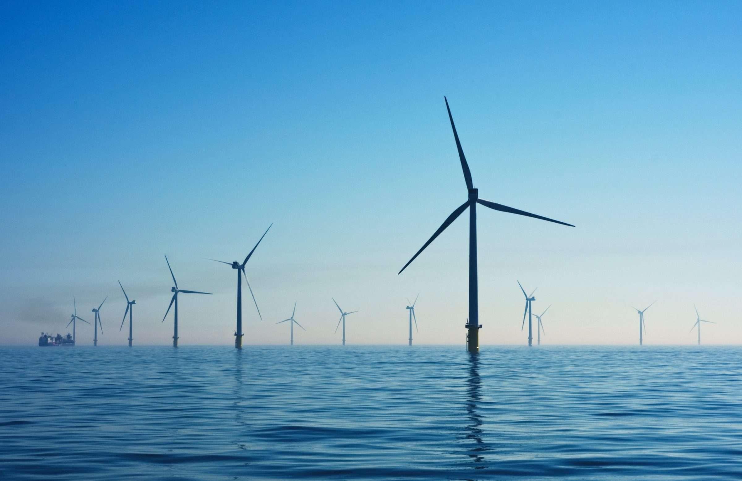 Photo of a wind farm