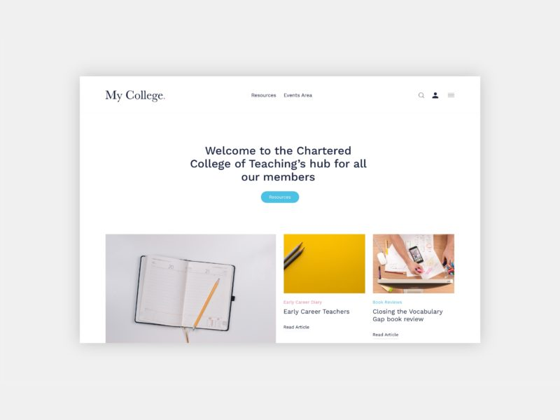 Membership platform development for Chartered College of Teaching