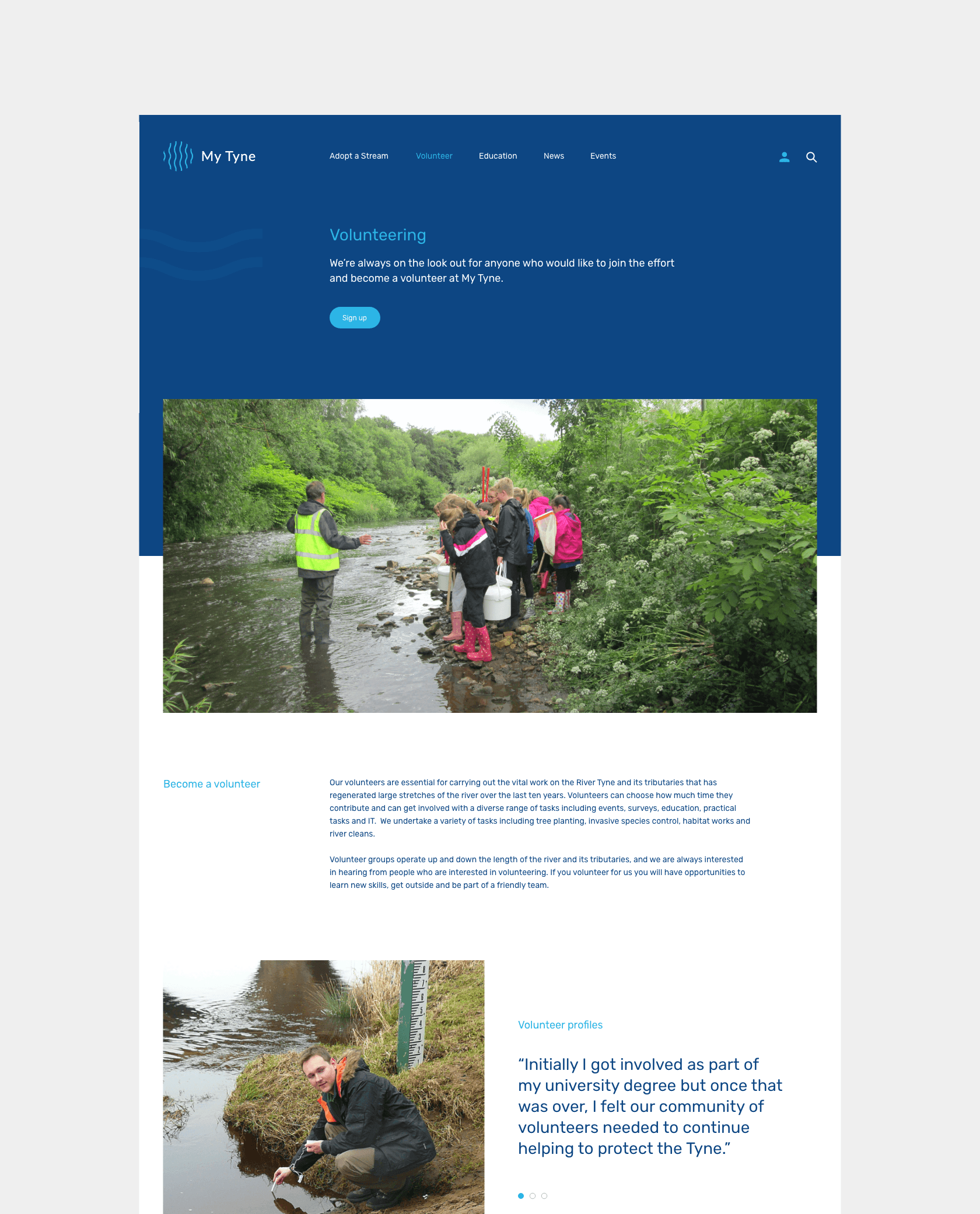 Website development for MyTyne