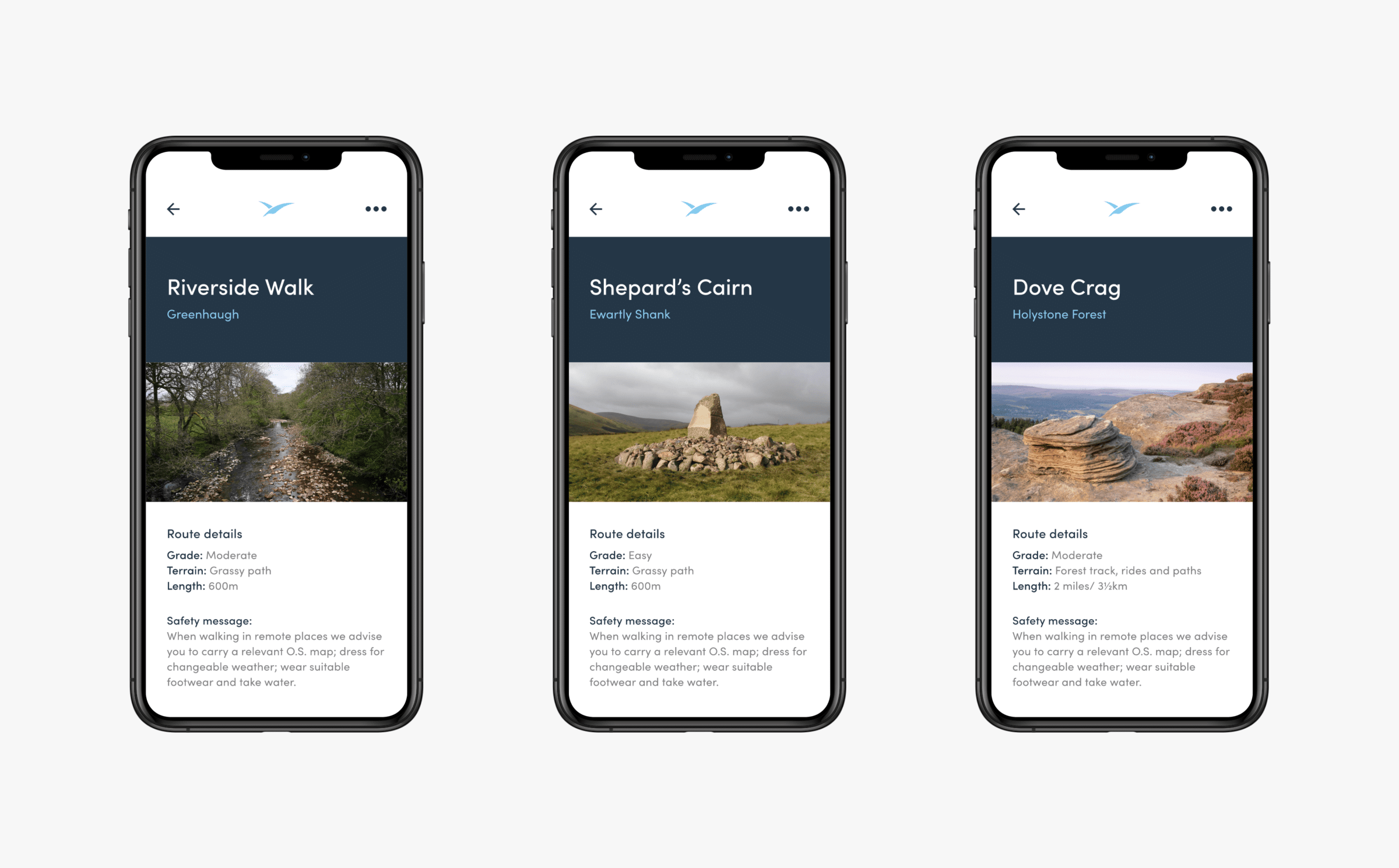 Mobile app design fro Poems in the Air