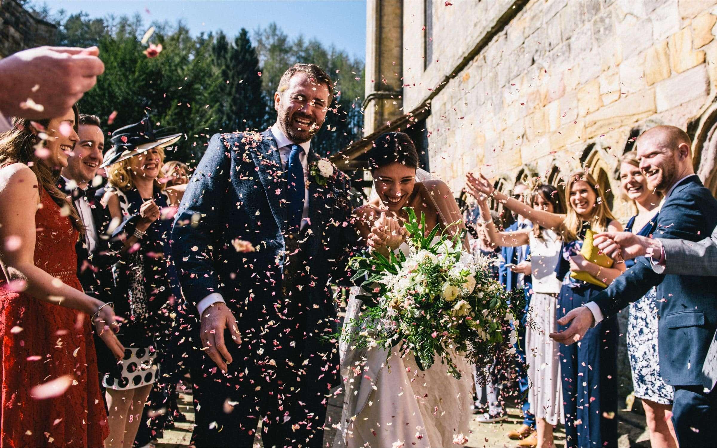 Wedding at Brinkburn Northumberland