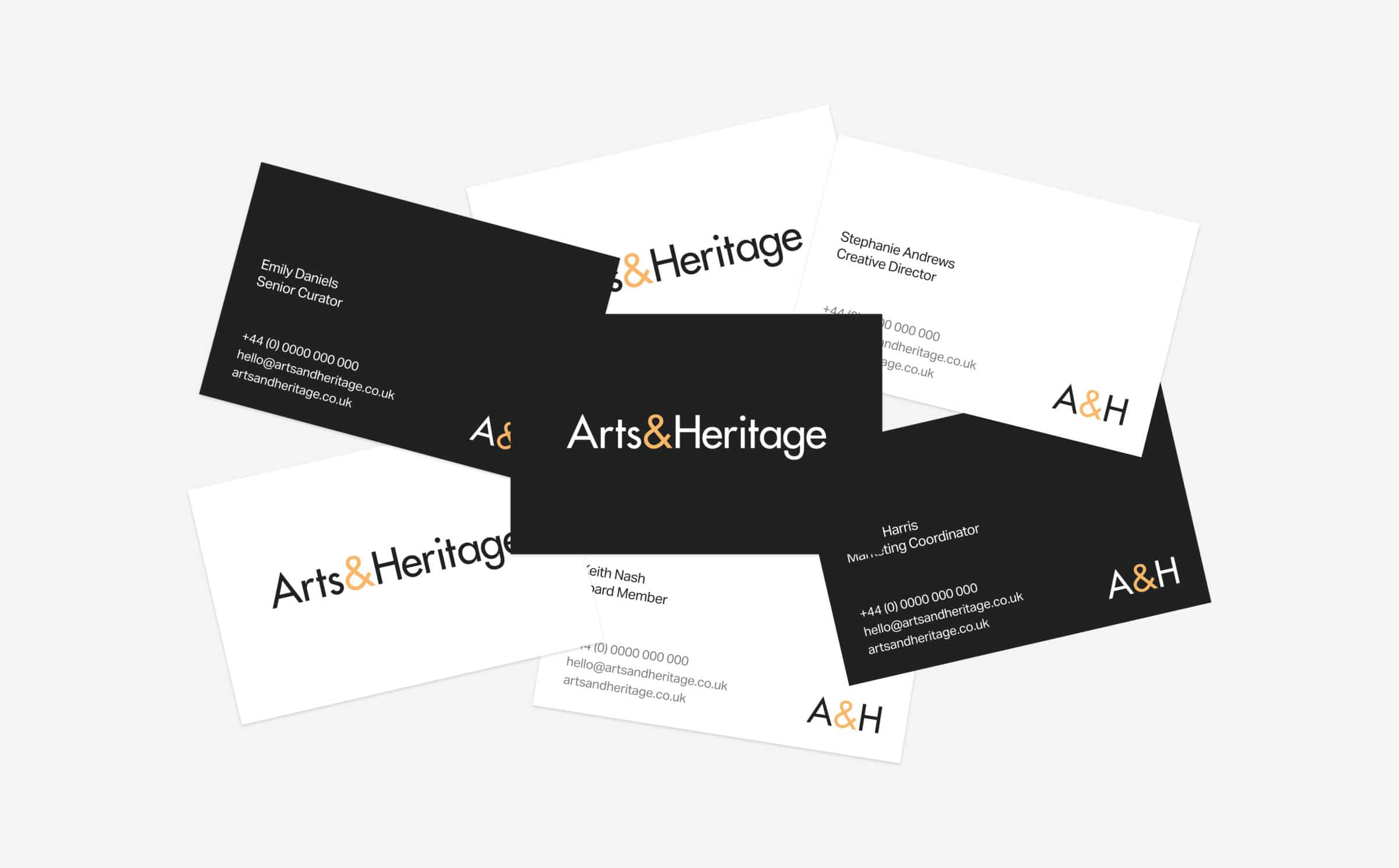 Arts&Heritage business cards