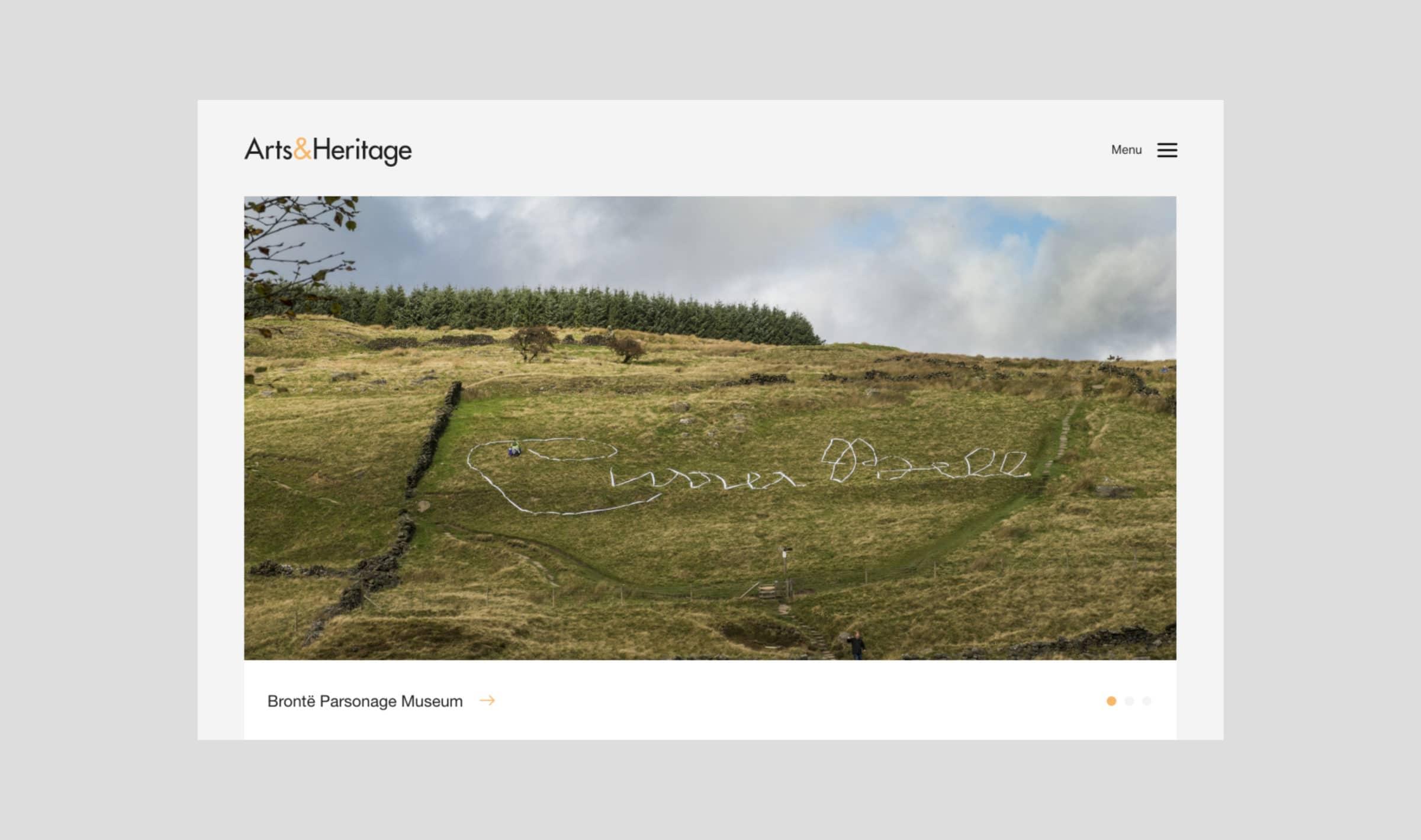 The Arts&Heritage website