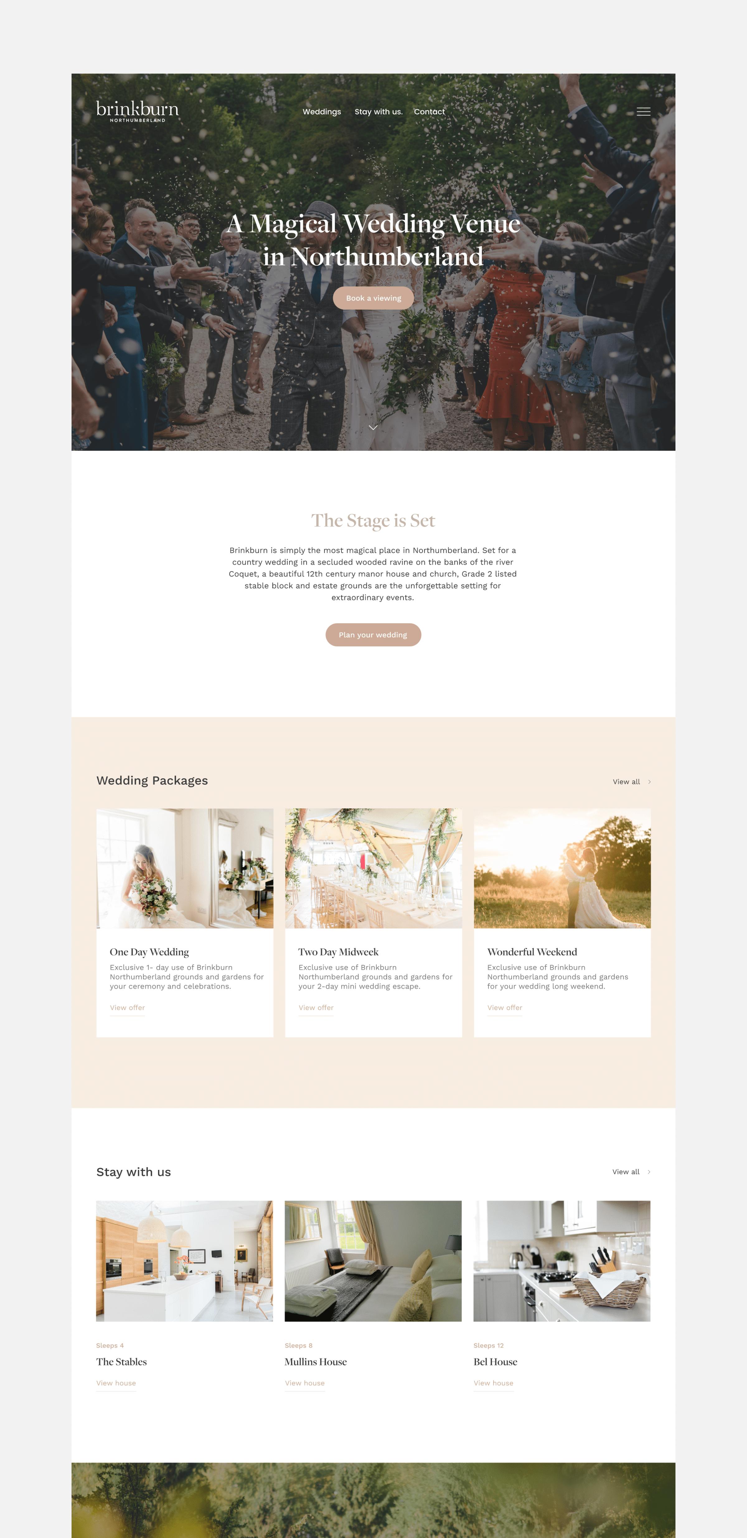 Brinkburn website by TAC