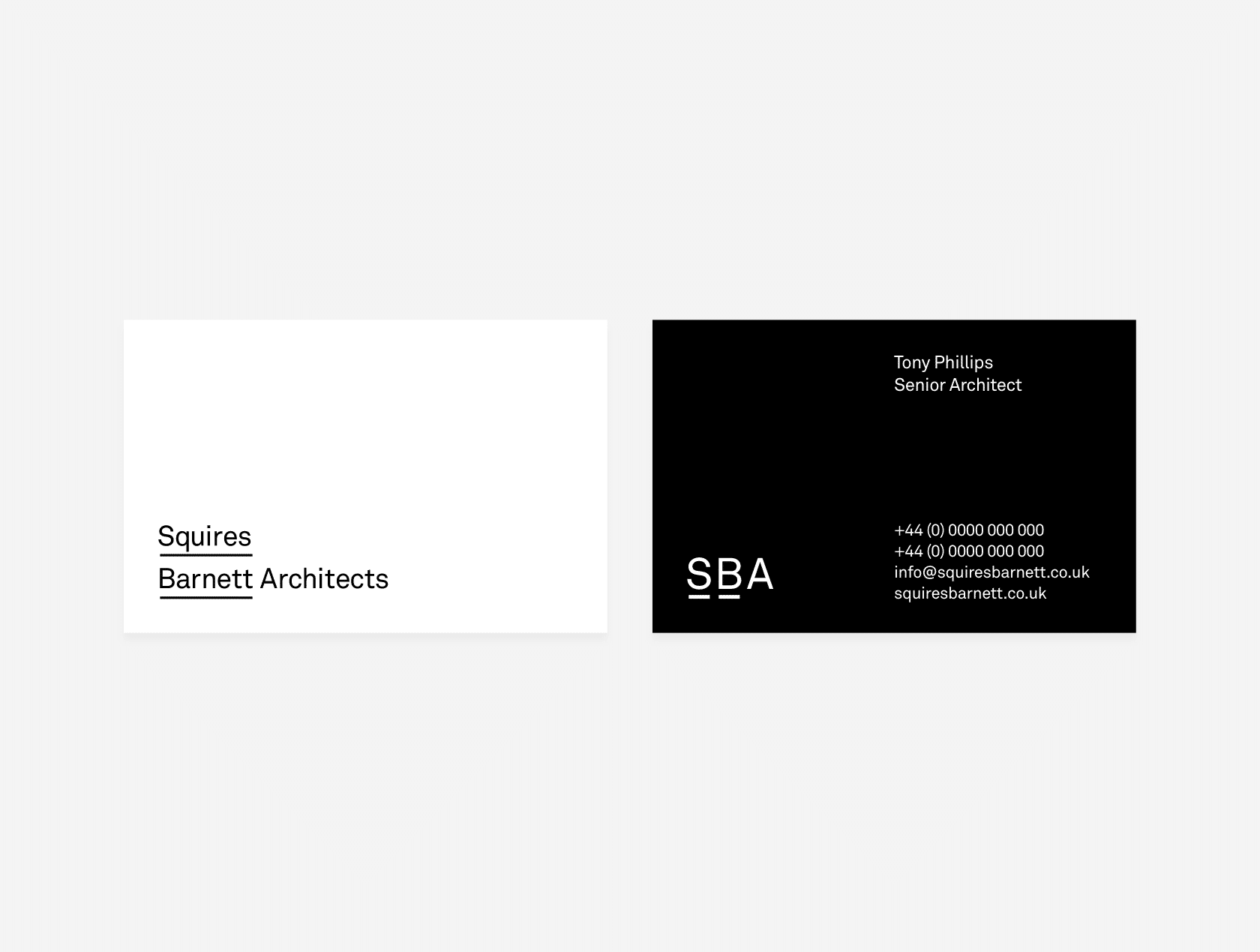 Squires Barnett Architects identity by TAC