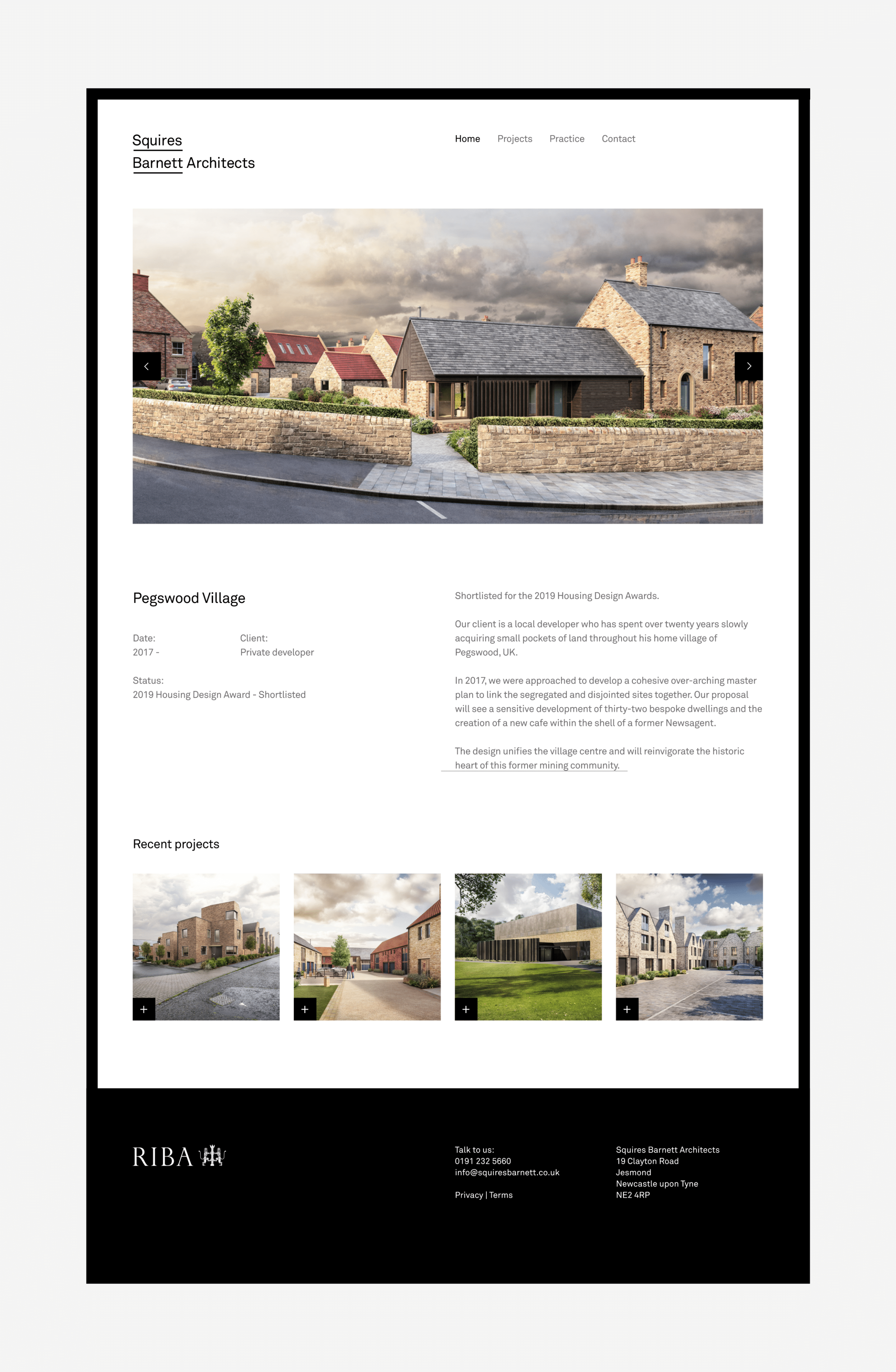 Squires Barnett Architects website by TAC