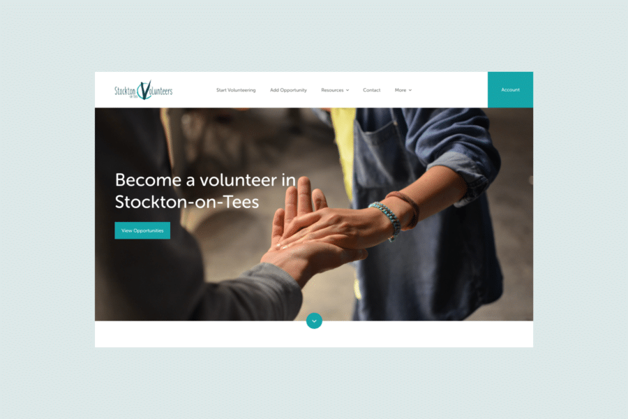Stockton Volunteers website by TAC