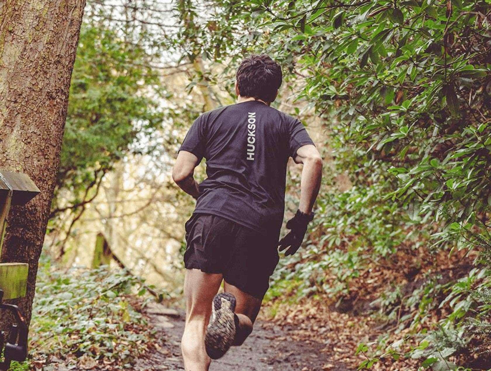 A runner wearing Huckson