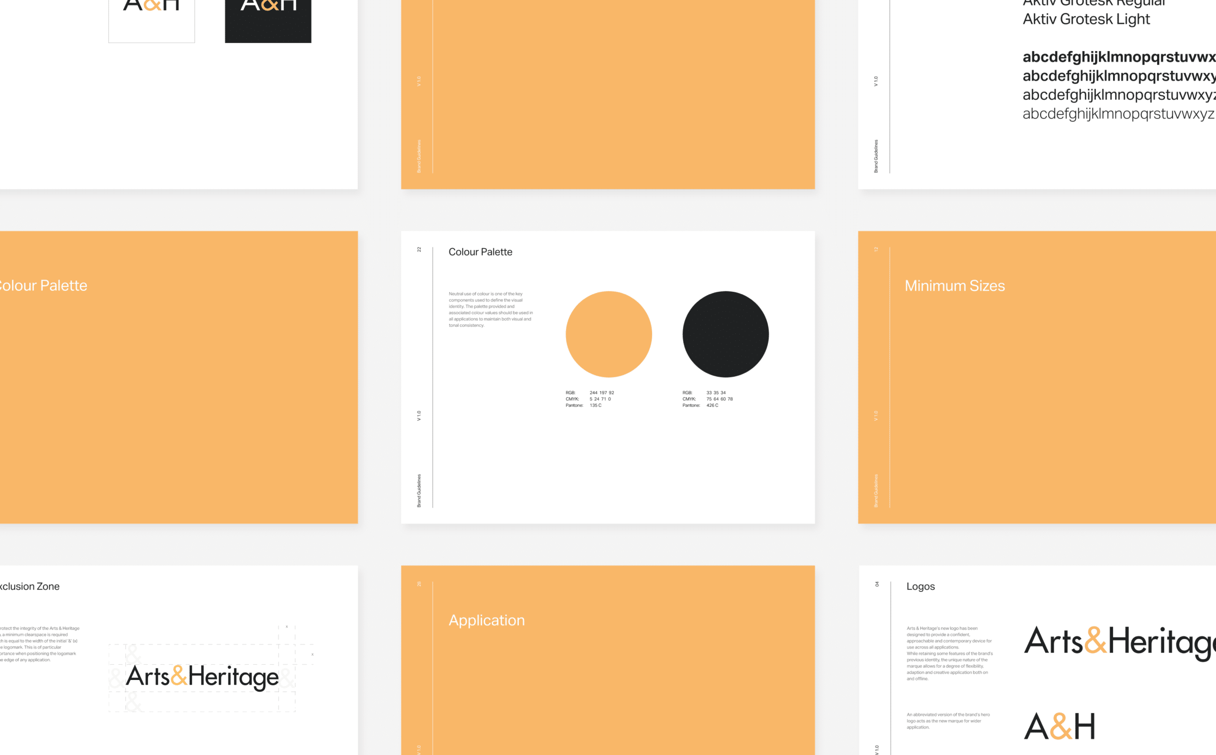 Arts&Heritage brand guidelines by TAC