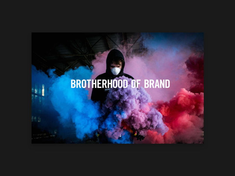 Brotherhood of Brand website by TAC