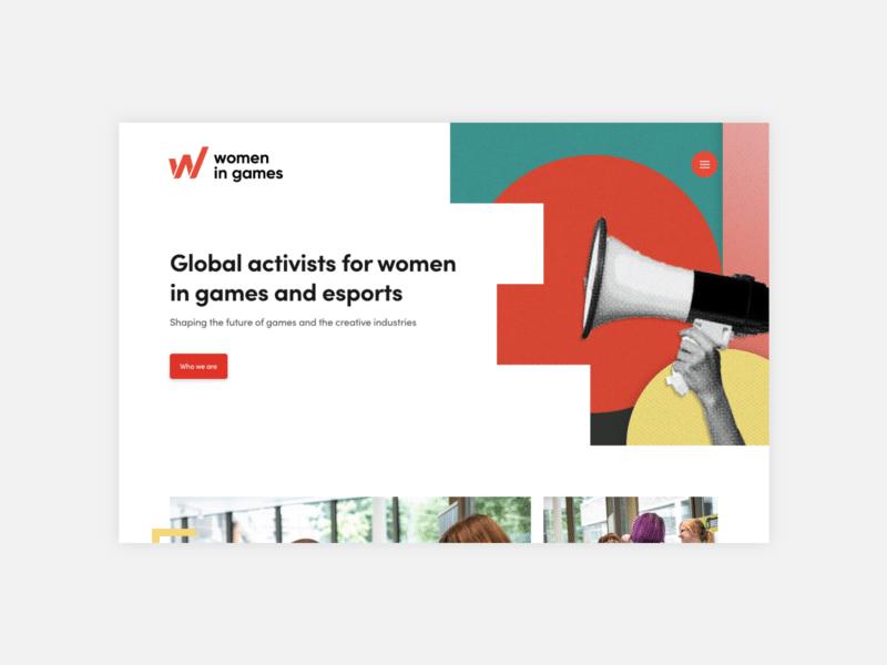 Women in Games website by TAC