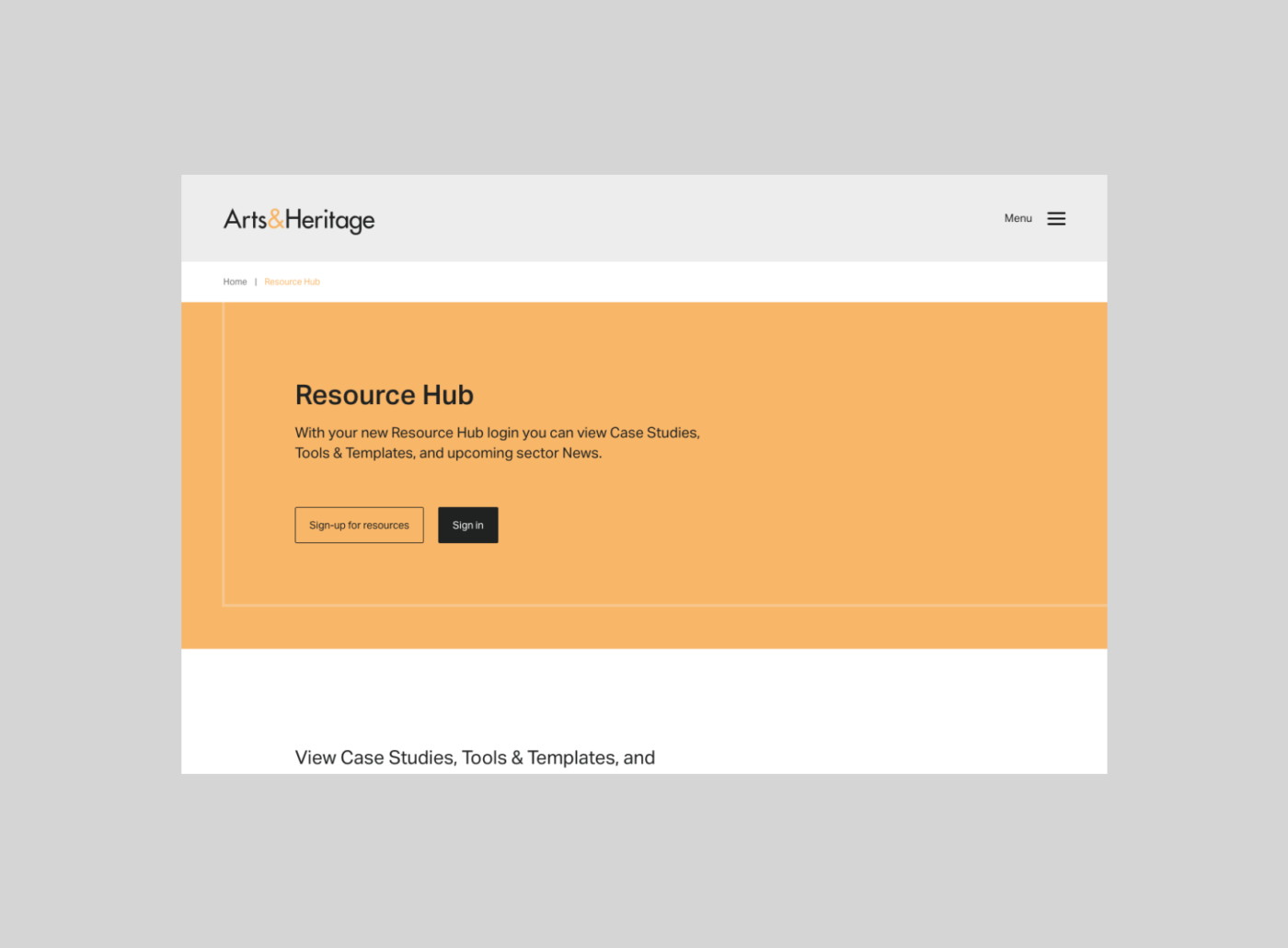 Art&Heritage Resource Hub by TAC
